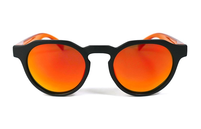 Black - Red Fire glasses - Orange