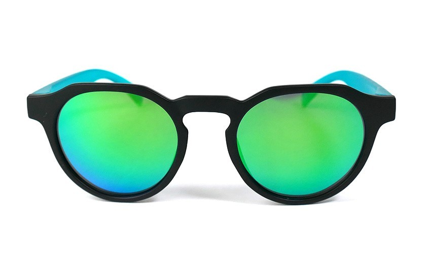 Black - Green glasses - Duck Blue