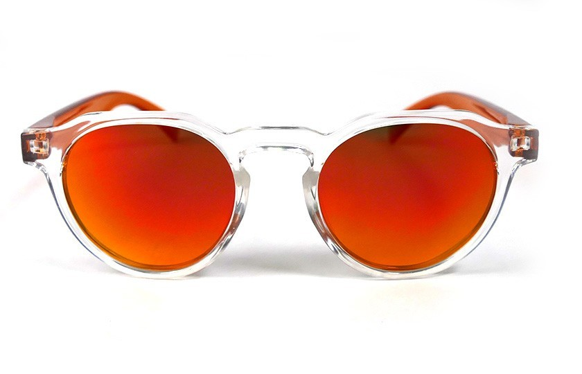 Transparent - Red Fire glasses - Orange