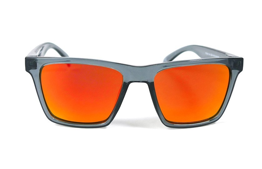 Grey - Glasses Red Fire - Grey