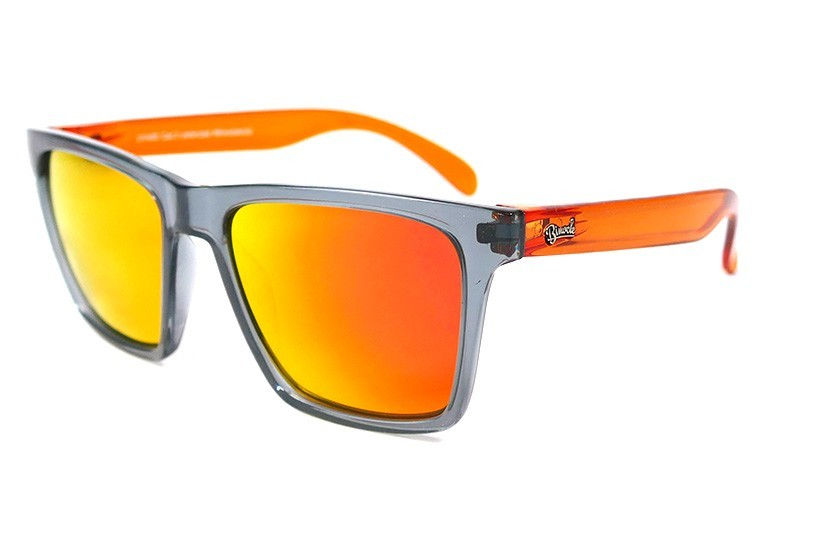 Grey - Glasses Red Fire - Orange