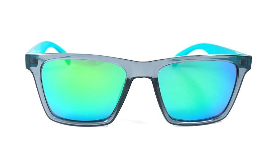 Lunettes de soleil Miami Gris - Verres Vert - Bleu Canard 29,00€
