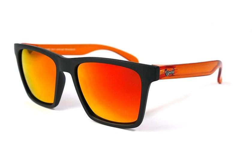 Black - Glasses Red Fire - Orange
