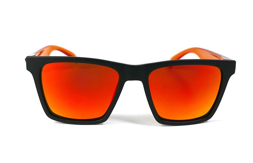 Black - Glasses Red Fire - Orange