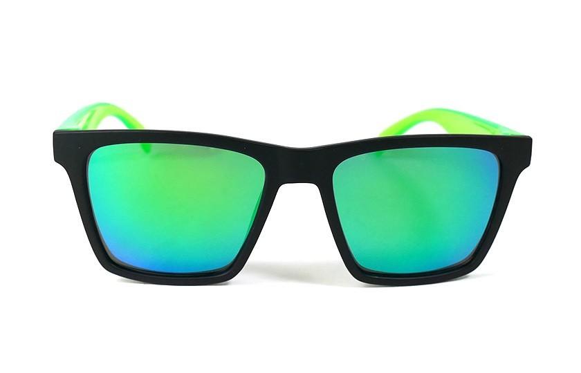 Lunettes de soleil Miami Noir - Verres Vert - Vert 29,00€