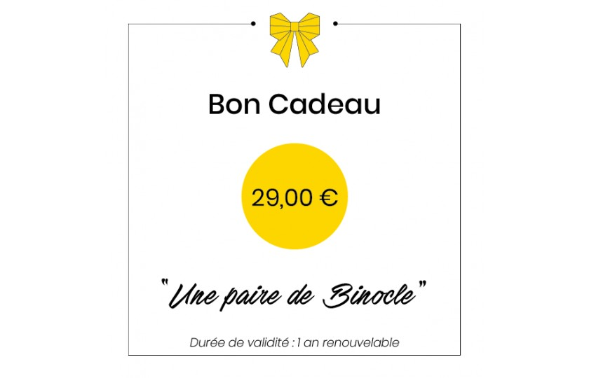 Bon cadeau - 29€